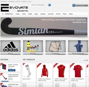 Evovate Sports website