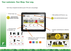 Your Shop bespoke options